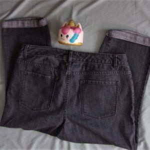 coldwater creek size 12 gray capris womens jeans